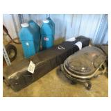 Lot of Water Jugs, Camping Grill and Canopy