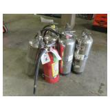 (6) Stainless Fire Extinguishers