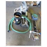 Highbank sluice/dredge with misc. mining equipment