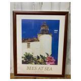 Bees at Sea Framed Print