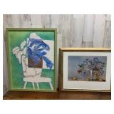 Two Framed Art Pieces