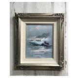 Signed Julie Gregory Framed Acrylic on