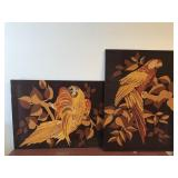 Pair of Macaw Wall Hangings