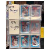 1970-1982 Kelloggs Baseball Cards