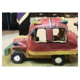 Hand Made Pottery Bus