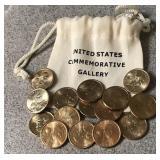 Fourteen 2000 D Sacagawea Dollar Coins