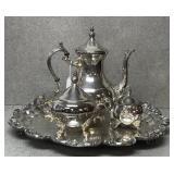Four Piece Silver Plated Tea Set