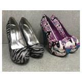 Two Pairs of Size 6 High Heel Shoes