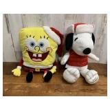 Snoopy and Sponge Bob Plush Toys