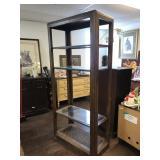 Four Tier Glass and Rotan Display Shelf