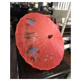Hand Painted Oriental Parasol