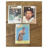 Three Vintage Baseball Cards