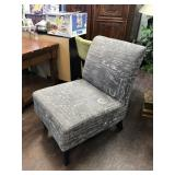 Printed Cushioned Accent Chair