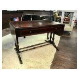 Solid Wood Footed Drop Leaf Table