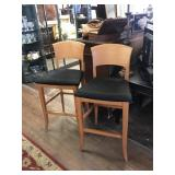 Two Bar Height Cushioned Chairs