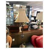 Decorative Table Lamp with Oval Shade