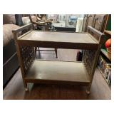 Vintage Two Tier Rolling Cart