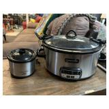 Two Crock Pot Brand Slow Cooker and