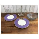 Glass Serving Bowls and Royal Worcester