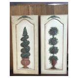 Two Signed Hand Painted Wall Art