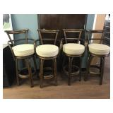 Solid Wood and Cushioned Bar Stools