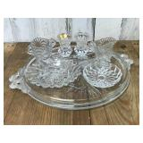 Selection of Cut Glass and Cake Serving