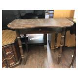 Antique Solid Wood One Drawer Desk