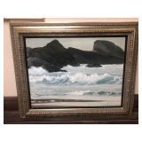 Signed Ocean Themed Acrylic on Canvas