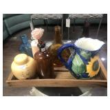 Selection of Vintage Glass and Serving Tray