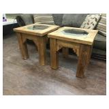 Rustic Solid Wood side tables