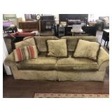 Nice Upholstered Couch with Decorative Pillows