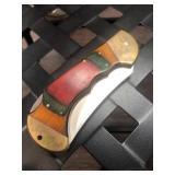 Wood Handle Folding Knife by Frost Cutlery