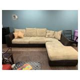 Nice Two-toned sectional