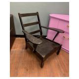 Antique wood chair cushion