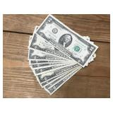 Ten Vintage Two Dollar Bills