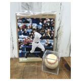 Autographed Baseball and 8 x 10 Photo