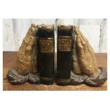 Holy Bible and Praying Hands Book Ends