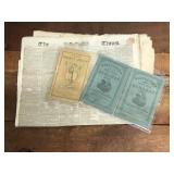 Antique Almanacs and Newspapers