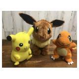 Three Pokemon Plush