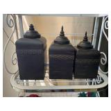3 piece metal canister