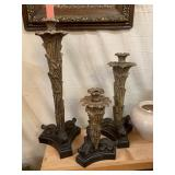 Decorative candle holders set of 3