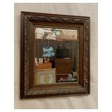 Guilded wood frame mirror