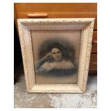 Guilded wood frame picture
