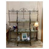 Large Metal and Glass Baker Rack