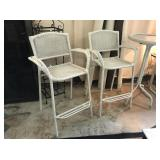 White Whicker Bar Stools