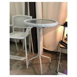 Whicker Patio Table