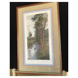 """Framed and Matted Art """"A Stoney Brook"""""""