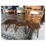 3 Antique Hand Painted Chairs