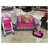 Frozen Pullout Chair, Toy Stoller and Microphone