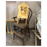 Two Solid Wood Highchairs